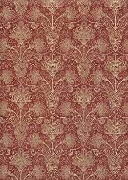 Bouquet oriental brique (50x70)
