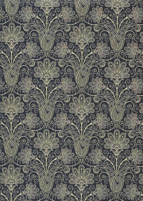 Bouquet oriental bleu (50x70)