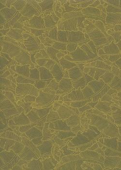 Feuilles de bananier ton jaune (50x70)