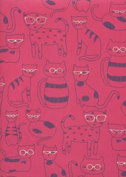 Les chats aux lunettes argentées (50x70)