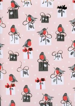 Les petits cadeaux aux oiseaux réhaussé or (50x70)