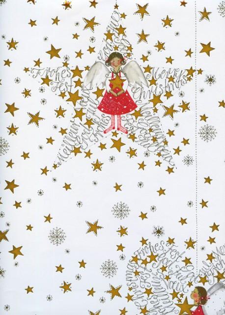 Les petits anges réhaussé or (50x70)