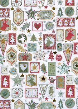 Les vignettes de Noël réhaussé or (50x70)