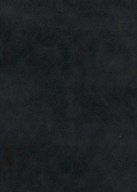 Simili cuir velours Pelage noir intense (70x100)