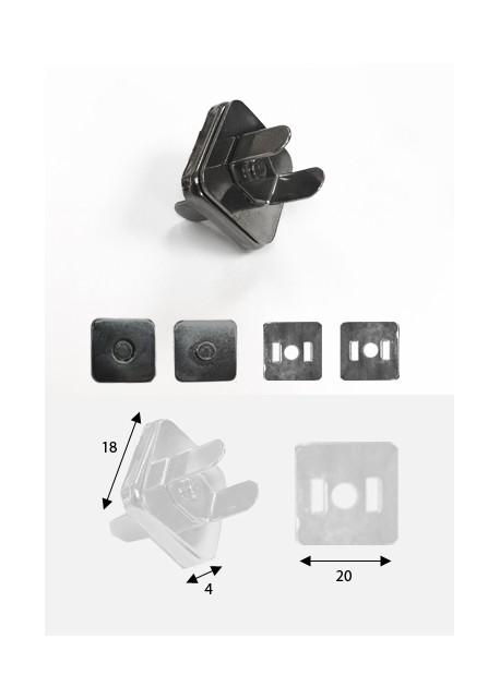 Top magnétique carré canon de fusil (18x18mm)