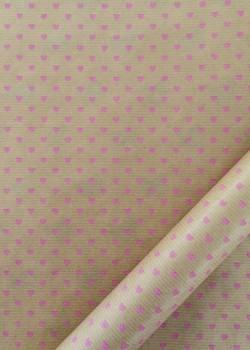 """""""Kraft fantaisie"""" Petis coeurs rose bonbon (70x100)"""
