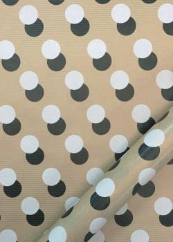 """""""Kraft fantaisie"""" Duo de pois noir et blanc (70x100)"""