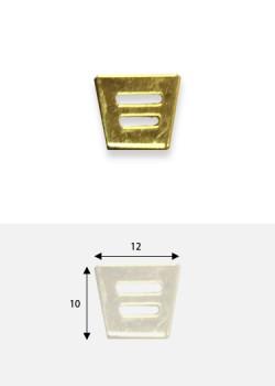 Embouts de bride découpé doré (10x12mm)
