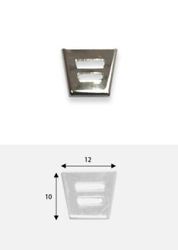 Embouts de bride découpé argent (10x12mm)