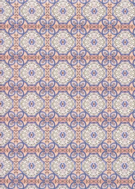 """""""Medina"""" vitrail bleu et vert (70x100)"""