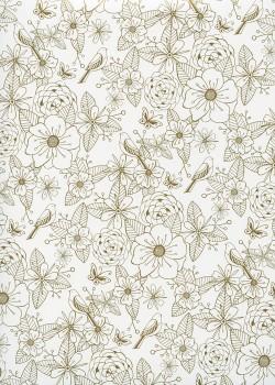 Fleurs, oiseaux et papillons (50x70)