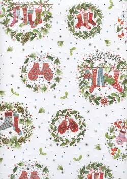 Les décorations de Noël en couronnes réhaussé argent (50x70)