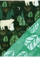 "Recto verso ""Ours polaires / sapins"" (50x70)"