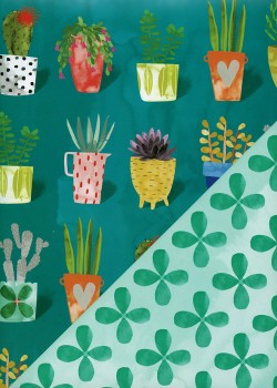 """Recto verso """"Les pots de fleurs / les trèfles"""" (50x70)"""