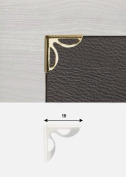 """Angles papillon découpés or """"redorés"""" (15x15mm)"""