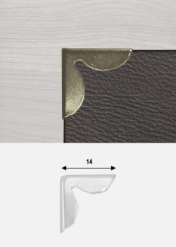 Angles pétales bronze (14x14mm)