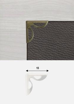Angles papillon découpés bronze (15x15mm)