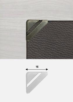 Angles quarter découpés bronze (15x15mm)