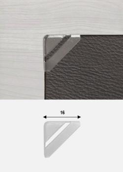 Angles quarter découpés argent (15x15mm)