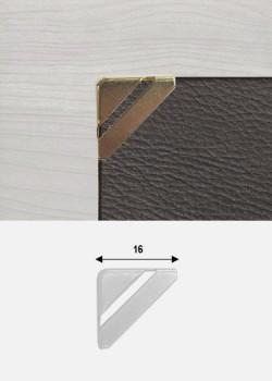 """Angles quarter découpés or """"redoré"""" (15x15mm)"""