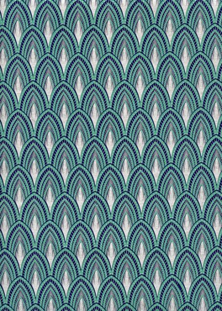 Les plumes de paon turquoise et argent (50x70)