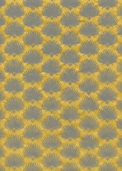 Lokta palmes fond jaune (50x75)