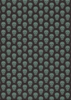 Lokta tête de mort fond noir (50x75)