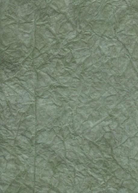 """Papier """"translucide toilé"""" vert de gris (48x70)"""