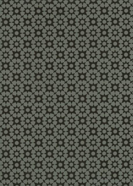 Lokta Istanbul gris ciment et noir (50x75)