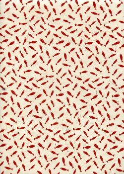 Lokta petits poissons rouges fond naturel (50x75)