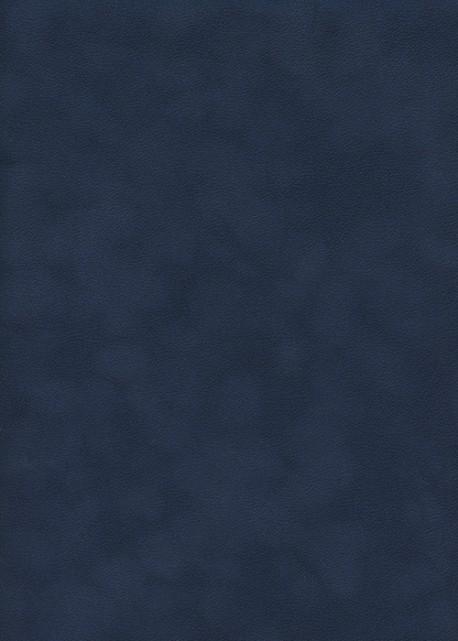 Simili cuir velours Zeste bleu marine (70x100)