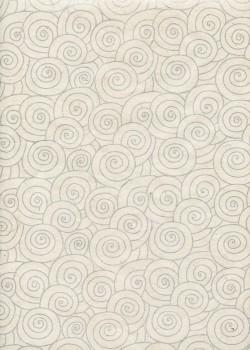 Lokta spirale argent fond naturel (50x75)