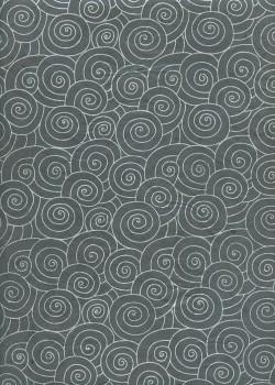 Lokta spirale argent fond anthracite (50x75)