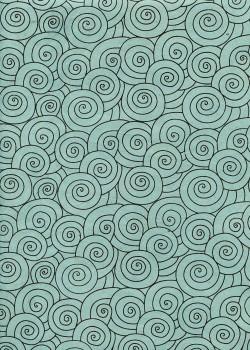 Lokta spirale noire fond bleu vert (50x75)