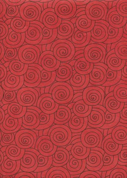 Lokta spirale noire fond rouge (50x75)
