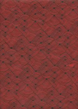 Lokta entrelacs rouge et noir (50x75)