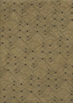 Lokta entrelacs camel et noir (50x75)