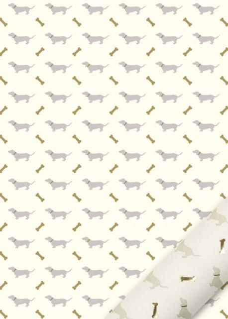 """""""Semis"""" les teckels beiges et or (50x70)"""