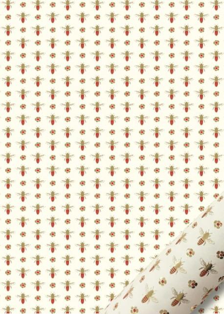 """""""Semis"""" les abeilles rouges et dorées (50x70)"""