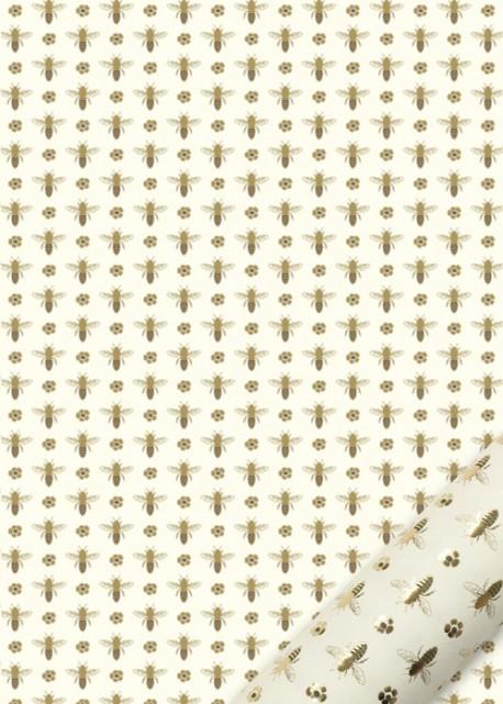 """""""Semis"""" les abeilles brunes et dorées (50x70)"""