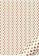 """""""Semis"""" les coeurs rouges et dorées (50x70)"""