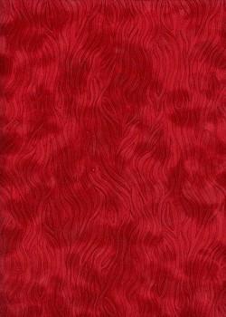 Simili cuir velours Zebra rouge cerise (70x100)