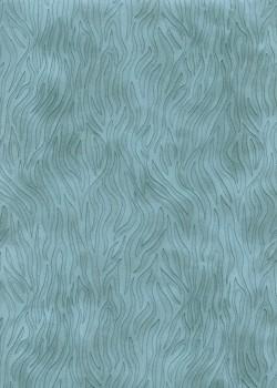 Simili cuir velours Zebre bleu pompadour (70x100)