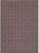 Labyrinthe bleu indigo et or vieilli (70x100)