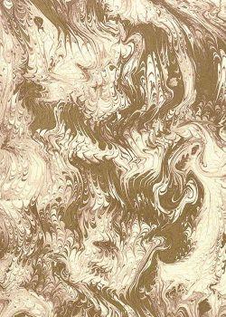 Marbré peigné marron et or (70x100)