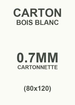 Carton bois blanc 0.7mm (80x120)