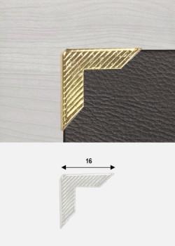 """Angles striés or """"redoré"""" (16x16mm)"""