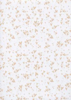 Envol de petits coeurs nacrés beige (48x68)