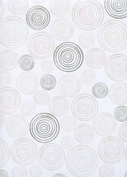 Les spirales beige rosé et argent (68x98)