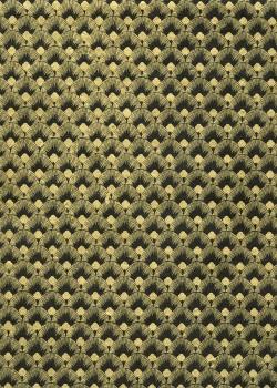 Lokta plumes de paons noirs et or (50x75)